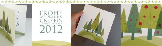 la papetina weihnachtskarte Weihnachstwald