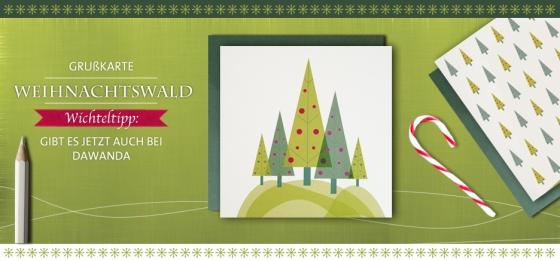 lapapetina Weihnachtskarte Weinachtswald
