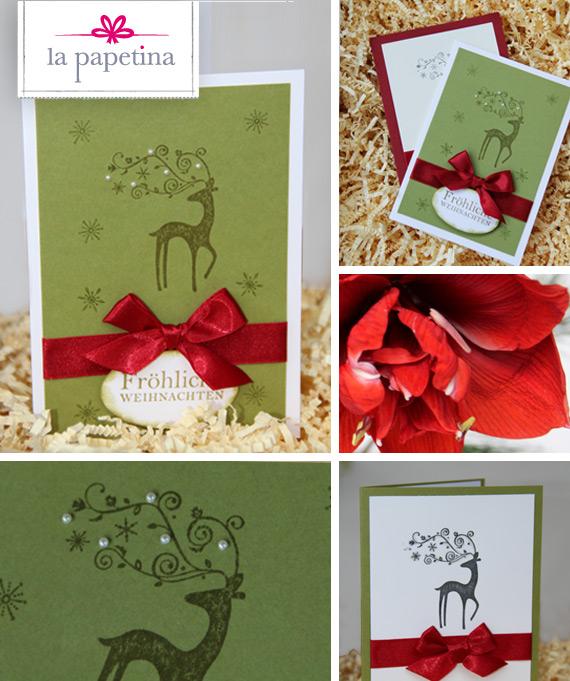 Weihnachtskarten selbst gemacht blog la papetina - Weihnachtskarten selbst basteln anleitung ...