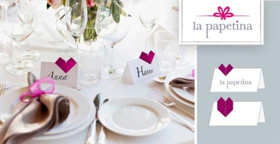 Tischkarten Hochzeit Papeterie