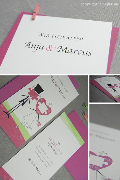 Illustrierte Karten, Design von la Papetina - Hochzeitspapeterie