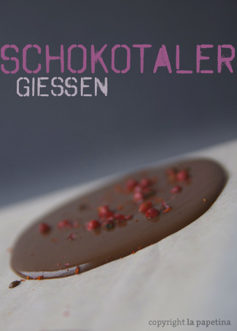 Schokoladentaler gießen
