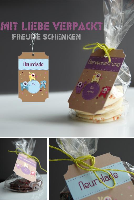 Schokoladenverpackung, Papeterie-Anhänger von la Papetina
