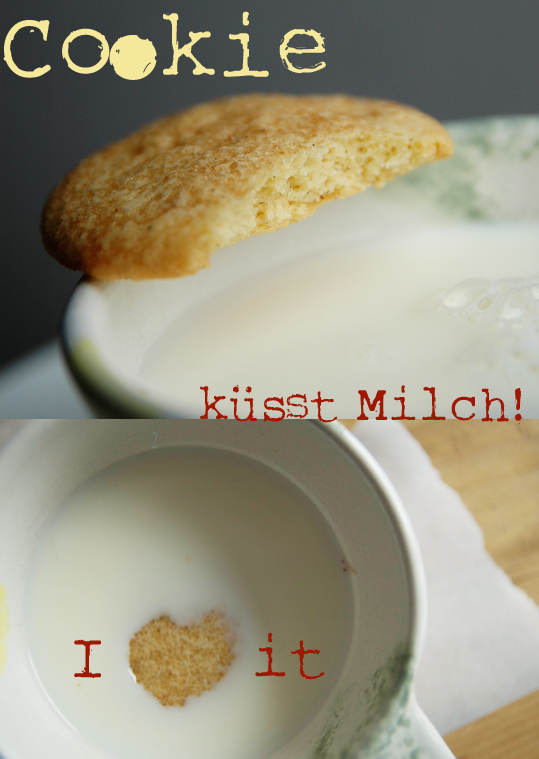 In kalte Milch getunkt