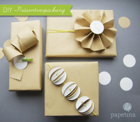 mit Packpapier Geschenke nett verpacken