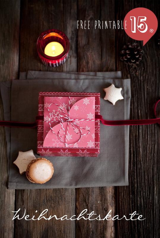 Download Weihnachtskarte free printable