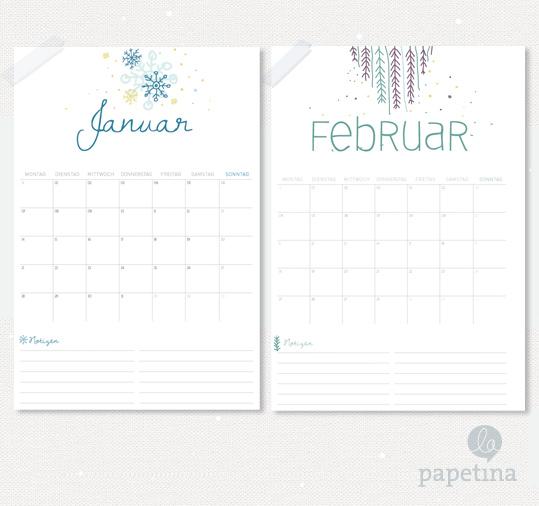 Kalenderblatt zum Downloaden